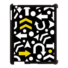 Right Direction   Yellow Apple Ipad 3/4 Case (black) by Valentinaart