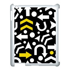 Right Direction   Yellow Apple Ipad 3/4 Case (white) by Valentinaart