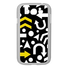Right Direction   Yellow Samsung Galaxy Grand Duos I9082 Case (white) by Valentinaart