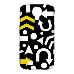 Right Direction   Yellow Samsung Galaxy S4 Classic Hardshell Case (pc+silicone) by Valentinaart