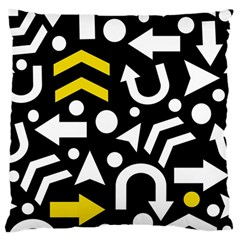 Right Direction   Yellow Standard Flano Cushion Case (one Side) by Valentinaart