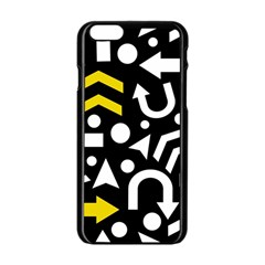 Right Direction   Yellow Apple Iphone 6/6s Black Enamel Case by Valentinaart