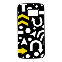Right Direction   Yellow Samsung Galaxy S7 Black Seamless Case