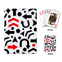 Red Right Direction Playing Card by Valentinaart