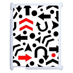 Red Right Direction Apple Ipad 2 Case (white) by Valentinaart