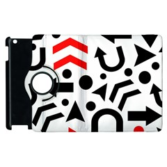 Red Right Direction Apple Ipad 3/4 Flip 360 Case by Valentinaart