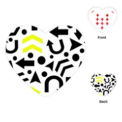 Yellow Right Direction  Playing Cards (heart)  by Valentinaart