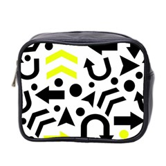 Yellow Right Direction  Mini Toiletries Bag 2 Side by Valentinaart