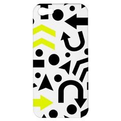 Yellow Right Direction  Apple Iphone 5 Hardshell Case by Valentinaart