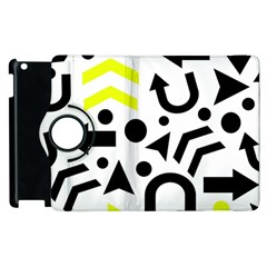 Yellow Right Direction  Apple Ipad 2 Flip 360 Case by Valentinaart