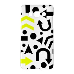 Yellow Right Direction  Samsung Galaxy A5 Hardshell Case  by Valentinaart