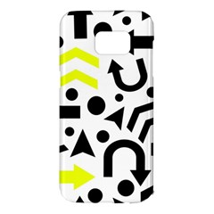 Yellow Right Direction  Samsung Galaxy S7 Edge Hardshell Case