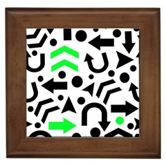Green Right Direction  Framed Tiles