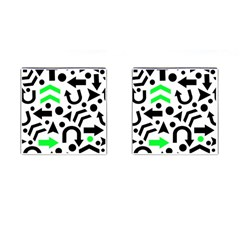 Green Right Direction  Cufflinks (square) by Valentinaart