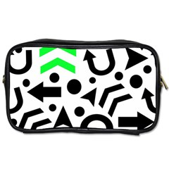 Green Right Direction  Toiletries Bags by Valentinaart