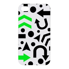 Green Right Direction  Apple Iphone 4/4s Hardshell Case by Valentinaart