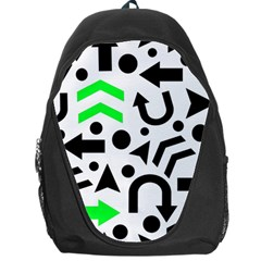 Green Right Direction  Backpack Bag