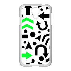 Green Right Direction  Samsung Galaxy S4 I9500/ I9505 Case (white) by Valentinaart