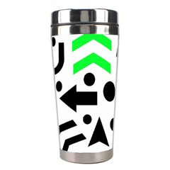 Green Right Direction  Stainless Steel Travel Tumblers by Valentinaart
