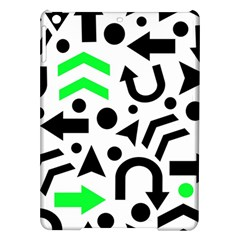 Green Right Direction  Ipad Air Hardshell Cases by Valentinaart