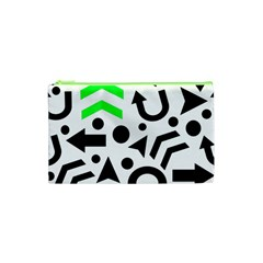 Green Right Direction  Cosmetic Bag (xs) by Valentinaart
