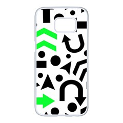 Green Right Direction  Samsung Galaxy S7 Edge White Seamless Case
