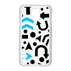 Cyan Right Direction Samsung Galaxy S5 Case (white) by Valentinaart