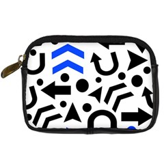 Blue Right Direction Digital Camera Cases by Valentinaart