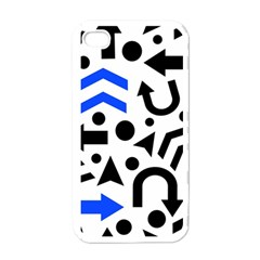 Blue Right Direction Apple Iphone 4 Case (white)