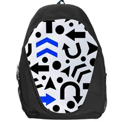 Blue Right Direction Backpack Bag by Valentinaart