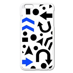 Blue Right Direction Apple Iphone 6 Plus/6s Plus Enamel White Case by Valentinaart