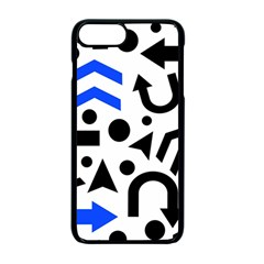 Blue Right Direction Apple Iphone 7 Plus Seamless Case (black) by Valentinaart