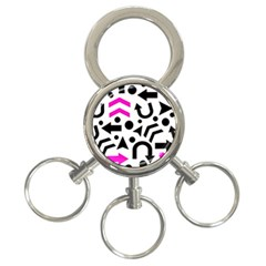 Magenta Right Direction 3 Ring Key Chains by Valentinaart