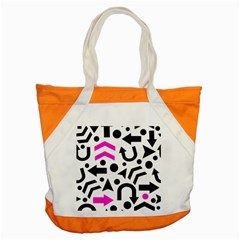 Magenta Right Direction Accent Tote Bag by Valentinaart