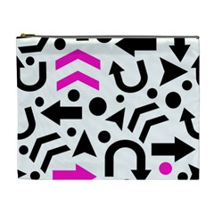 Magenta Right Direction Cosmetic Bag (xl)