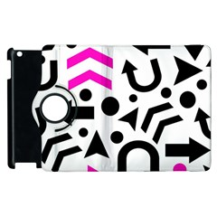 Magenta Right Direction Apple Ipad 2 Flip 360 Case by Valentinaart