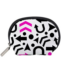Magenta Right Direction Accessory Pouches (small)  by Valentinaart