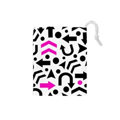 Magenta Right Direction Drawstring Pouches (small)