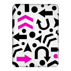 Magenta Right Direction Samsung Galaxy Tab 4 (10 1 ) Hardshell Case  by Valentinaart