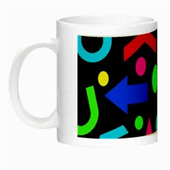 Right Direction   Colorful Night Luminous Mugs by Valentinaart