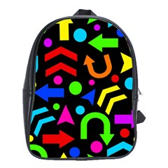 Right Direction   Colorful School Bags(large)  by Valentinaart