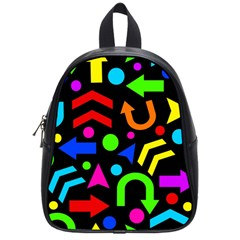 Right Direction   Colorful School Bags (small)  by Valentinaart