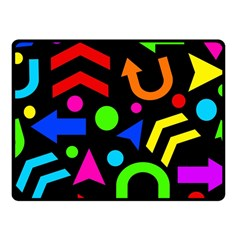 Right Direction - Colorful Fleece Blanket (small)