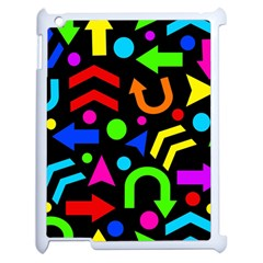 Right Direction - Colorful Apple Ipad 2 Case (white) by Valentinaart