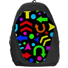 Right Direction   Colorful Backpack Bag by Valentinaart
