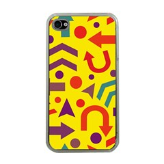 Yellow Direction Apple Iphone 4 Case (clear) by Valentinaart