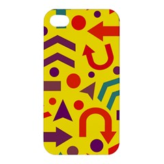 Yellow Direction Apple Iphone 4/4s Hardshell Case by Valentinaart