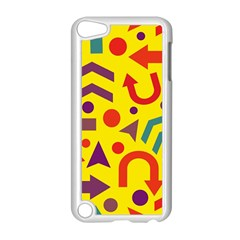 Yellow Direction Apple Ipod Touch 5 Case (white) by Valentinaart