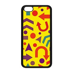 Yellow Direction Apple Iphone 5c Seamless Case (black) by Valentinaart