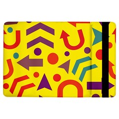 Yellow Direction Ipad Air Flip by Valentinaart